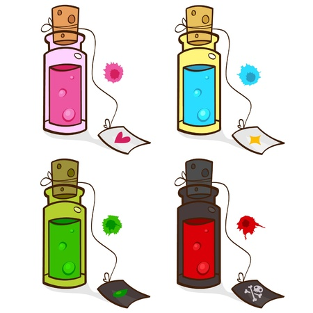 veneno frasco: pociones
