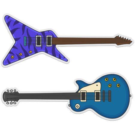 two beautiful guitars Illustration