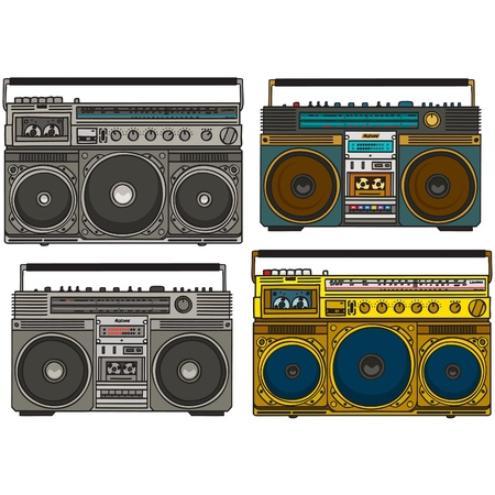 hip hop style: boom box set