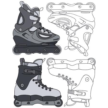 aggressive inline skates Illustration