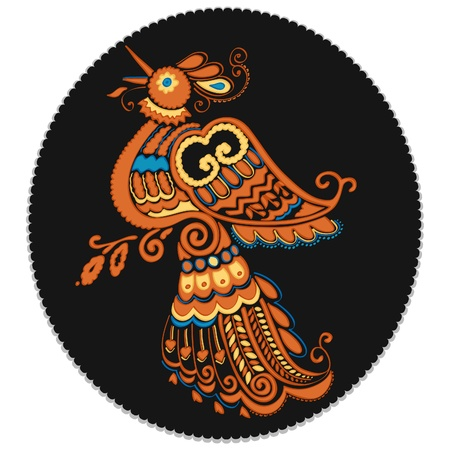 peony black: Russian culture Bird