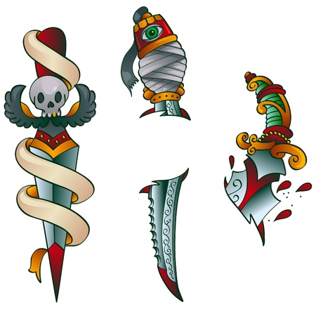 タトゥーの短剣