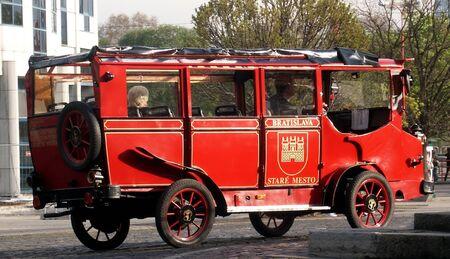 old bus: old bus in bratislava