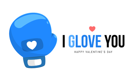 The blue boxing glove Illustration