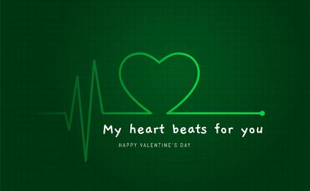 Ekg screen showing heart beat