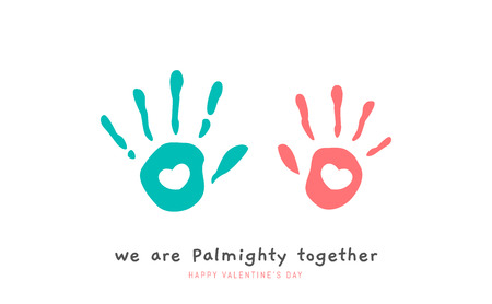 Two Palm with love symbol on the center Illustration
