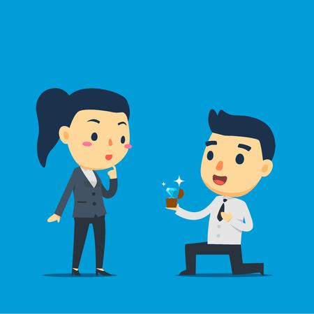 Un empleado propone a su socio
