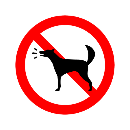 no barking dog allowed. forbidden Vector Sign Banque d'images - 117524356