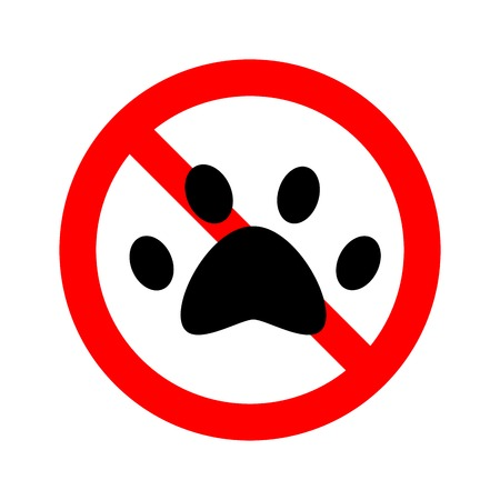 no animal paw is allowed to enter. Forbidden Vector Sign Banque d'images - 117524360