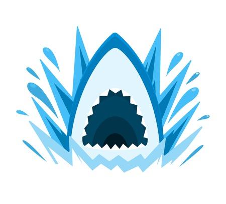 ein Hai und Wasserspritzer Vektorgrafik