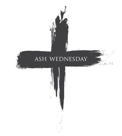 La croix noire des cendres mercredi