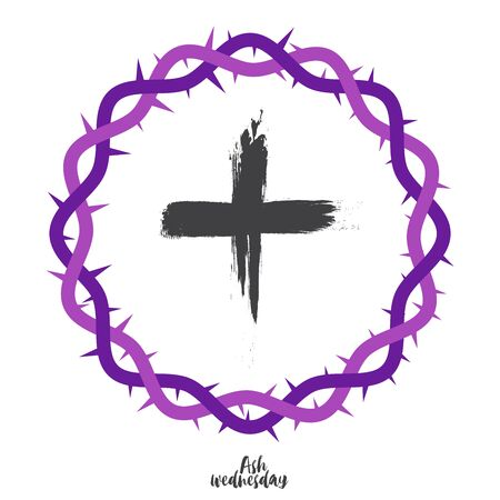 The Purple crown with cross inside Illustration
