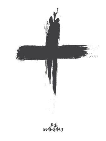 Schwarzes Kreuz des Aschermittwochs