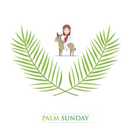 dimanche des rameaux - Jésus chevauche un âne