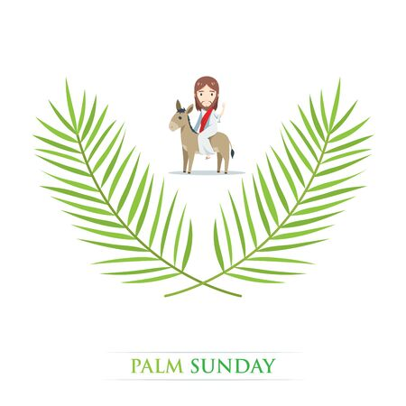 Palmsonntag - Jesus reitet auf einem Esel