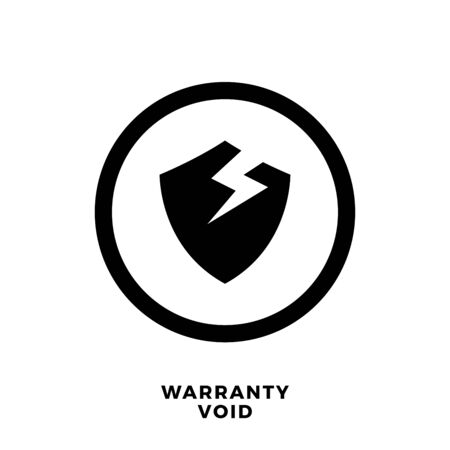 Abstract Sign Of Warranty Void. Isolated Vector Illustration Ilustrace