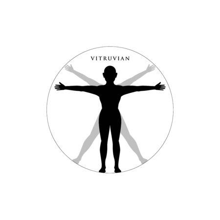 Vitruvian Person. Isolated Vector Illustration