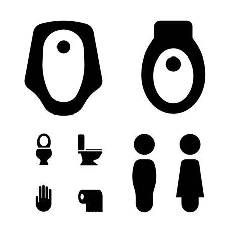 set of toilet vector icon