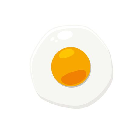 Round Yellow Egg. Isolated Vector Illustration Archivio Fotografico - 126671412