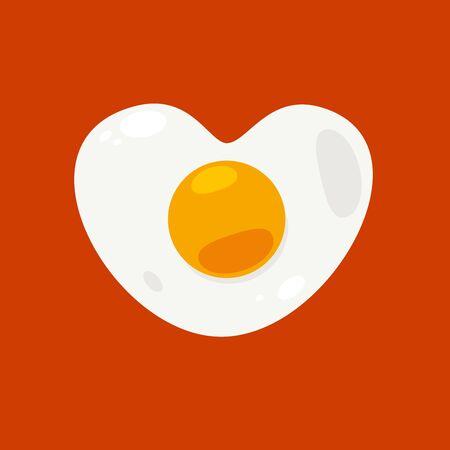 heart shaped egg. Isolated vector Illustration Archivio Fotografico - 126671419