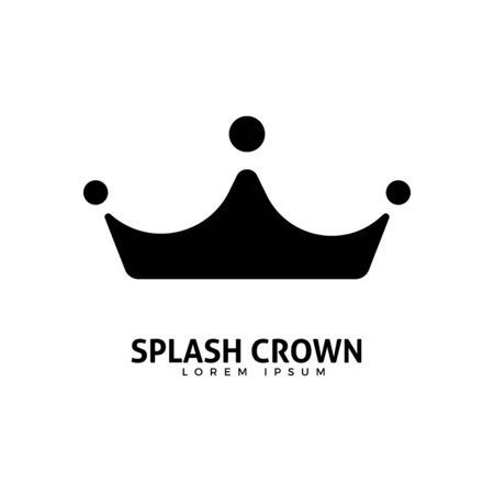 Abstract logo of a crown from liquid splash