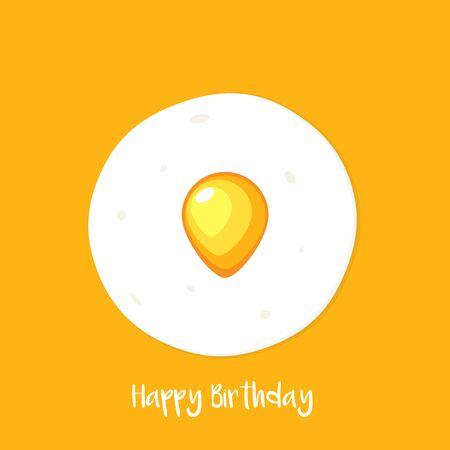 Yellow Egg Shape like balloon Ilustración de vector