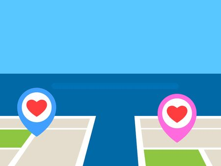 Long Distance Love Pin on map