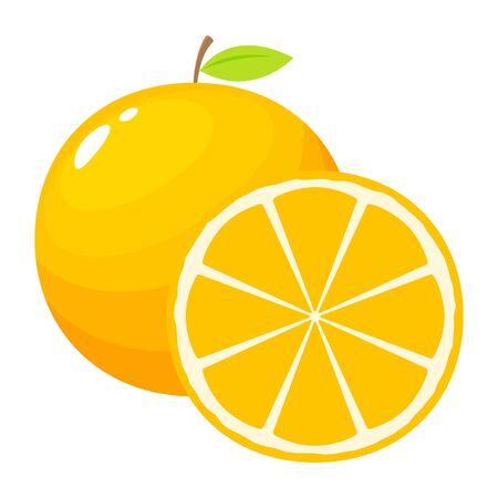orange fruit illustration with a cut. Isolated Vector Illustration 向量圖像