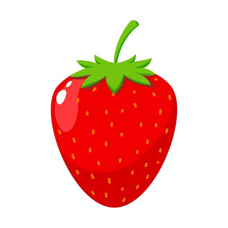 The red strawberry. Isolated Vector Illustration