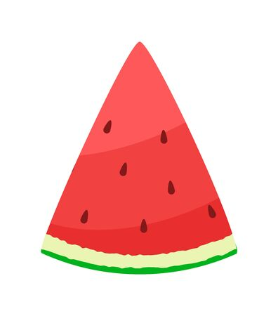 A slice of fresh watermelon fruit. Vector Illustration 向量圖像