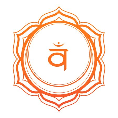 Sacral Chakra Vector Illustration