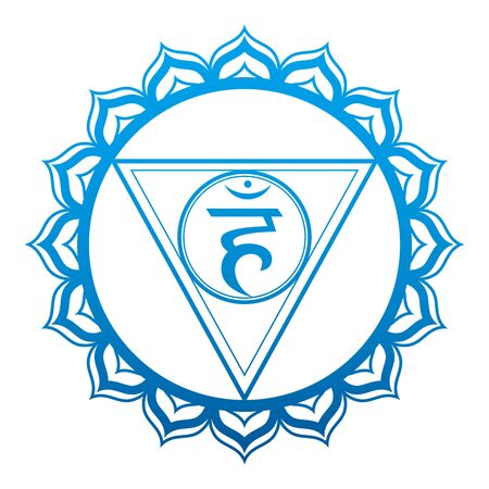 Throat Chakra Vector Illustration Vettoriali