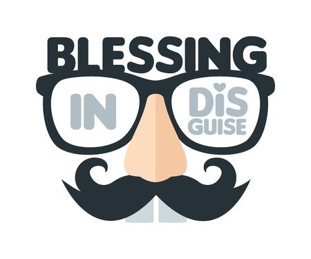 Blessing In Disguise. Isolated Vector Illustration