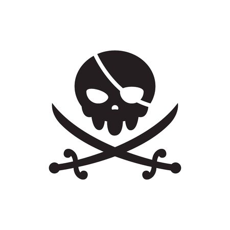 The Black Skull with two crossed swords. The Pirate Sign