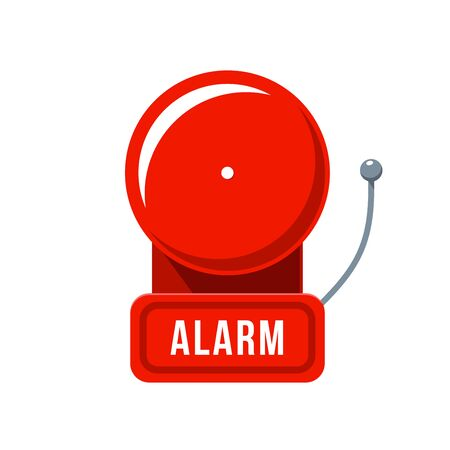 Red emergency Alarm. Isolated Vector Illustration 向量圖像