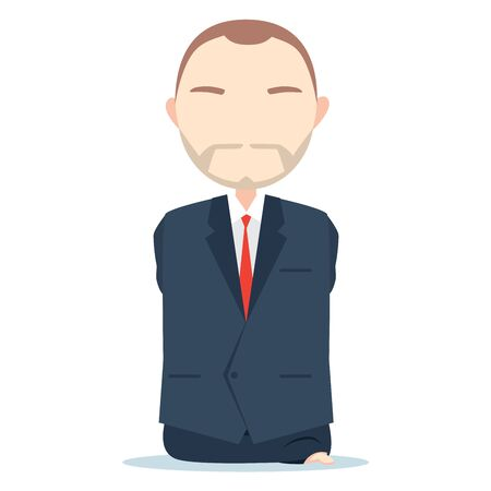 Man Without limbs wearing business suit Ilustrace