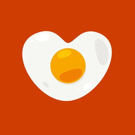 heart shaped egg. Isolated vector Illustration