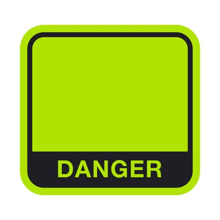 Black Green Danger Box. Vector Illustration