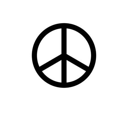 black peace sign. Isolated Vector Illustration