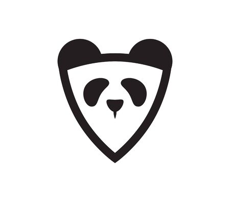 Abstract Panda Emblem. Isolated Vector Illustration 向量圖像