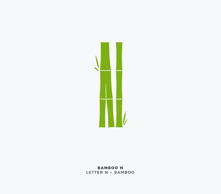Abstract Green Bamboo logo. Isolated Vector Illustration 向量圖像