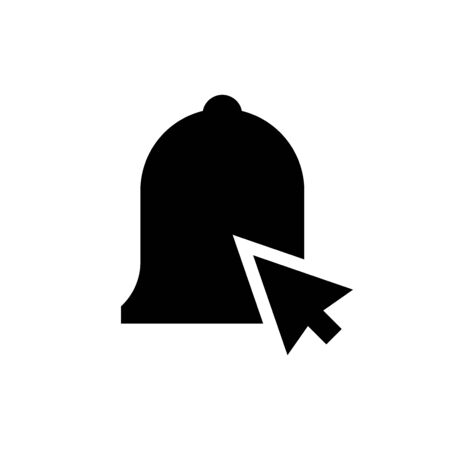 A bell and pointer icon. Abstract Vector Illustration