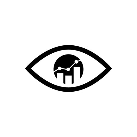 Bar raise inside the eye. Isolated Vector Illustration Çizim