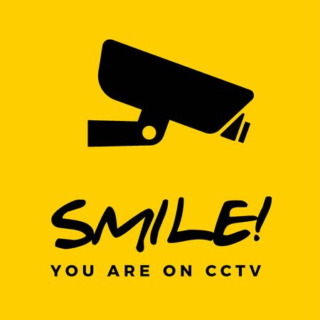 Smile you are on cctv box. Isolated Vector Illustration