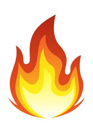 Big Fire Flame Illustration