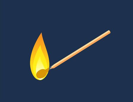 Fiery Matchstick in Diagonal angle