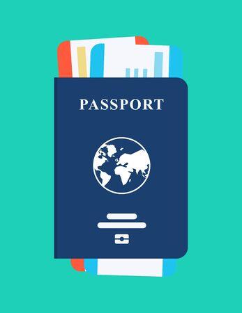 world passport illustration. Isolated Vector Illustration