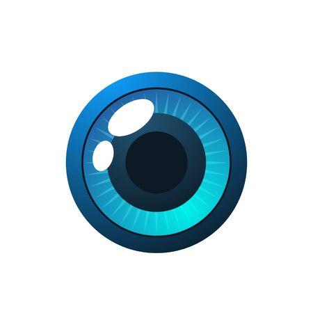 Abstract teken van een blauw oog met kleurovergang