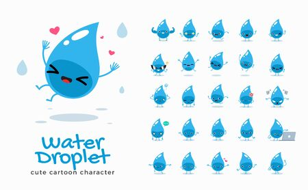Vector set of cartoon images of Water. Vector Illustration