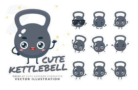 Vector set of cartoon images of Kettlebell. Part 2 Stock Illustratie